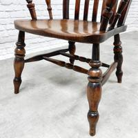 Large Windsor Lathback Armchair c.1890 (2 of 8)