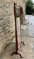 Antique Mahogany Cheval Mirror (17 of 18)