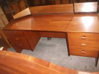 Stag Teak Dressing Table & Stool (2 of 3)