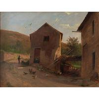 Frederik Rohde, Rural Scene With Chickens, Landscape Painting (6 of 7)