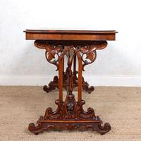 Walnut Writing Table 19th Century (7 of 14)
