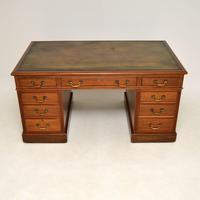 Large Antique Victorian  Mahogany  Pedestal Desk (2 of 12)