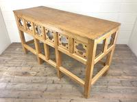 Victorian Pine Church Altar Table in Gothic Design (3 of 14)