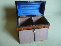 Figured Walnut Tea Caddy. 100% Original. C1880 (4 of 11)