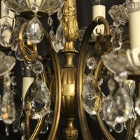 Italian Gilded 12 Light Antique Chandelier (5 of 8)