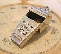 Vintage Pocket Watch Chain Whistle Fob 1940 Railway Or Police Fob (2 of 7)