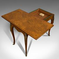 Antique Card Table, French, Burr Walnut, Fold Over, Games, Victorian c.1870 (10 of 12)