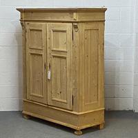 Double Antique Pine Cottage Wardrobe - Dismantles (4 of 4)