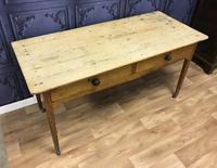 Georgian Two Drawer Pine Side Table (15 of 19)