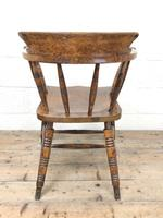 Antique Ash and Elm Smoker's Bow Chair (m-2303) (10 of 10)