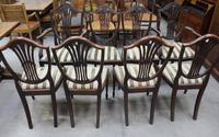 1960's Mahogany Set 8 Wheatcheaf Dining chairs with Pop out Seats (2 of 3)
