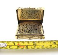 Superb Silver-gilt Vinaigrette Nathaniel Mills Birmingham 1844 (5 of 8)