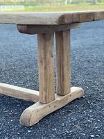 Large French Rustic Bleached Oak Farmhouse Dining Table (5 of 36)