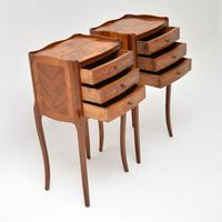 Pair of Antique French Inlaid Marquetry Bedside Tables (3 of 10)