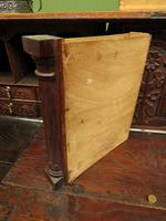 Antique Carved Oak Writing Bureau Desk with Fall Front, Handsome Gothic Piece (21 of 24)