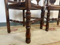 Antique Breton Side Table with Rush Seats (14 of 15)