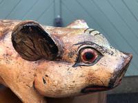 Antique Carved Pine Butchers Shop Display Pig (7 of 8)