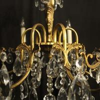 Italian Gilded & Crystal 6 Light Antique Chandelier (8 of 10)