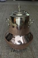 19th Century Dutch Copper & Brass Ash Bucket 'Doofpot' Peat Castellated Seam (9 of 9)