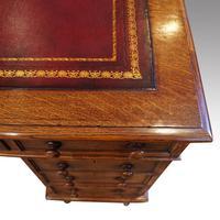 Victorian Oak Partners Desk (5 of 12)