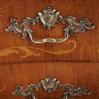 1930's Marble Top Marquetry Bombe Commode (3 of 9)