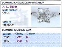 2.45 ct Diamond & Platinum Solitaire Ring c.1930 (5 of 9)