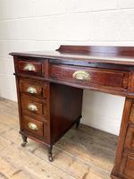 Antique Mahogany Small Desk (6 of 10)