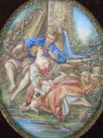 Beautiful Miniature Painting after Boucher Courting Couple (4 of 5)