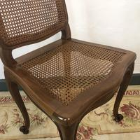 Vintage French Set of 6 Bergère Cane Dining Chairs Louis Style (7 of 8)