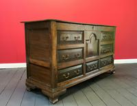 Beautiful 18th Century Georgian Period English Country Oak Mule Chest Sideboard Cabinet (7 of 19)