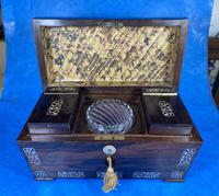 William IV Rosewood Tea Caddy With Mother of Pearl Inlay (10 of 15)