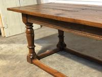Very Early Oak Farmhouse Refectory Dining Table (11 of 31)