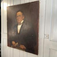 Large Antique Victorian Oil Painting Portrait of Gentleman in Formal Attire (8 of 10)
