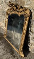 Large Victorian Gilt Overmantel Mirror (5 of 20)