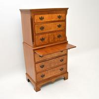 Antique Burr  Walnut Chest on Chest of Drawers (7 of 11)