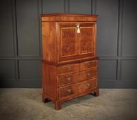 18th Century Walnut Escritoire Cabinet on Chest (2 of 14)