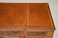 Antique Queen Anne Style Burr Walnut Leather Top Desk (8 of 11)