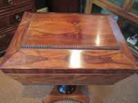 Fine Regency Period Rosewood Teapoy (6 of 12)