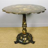 Antique Hand Painted Table Jennens & Bettridge (6 of 8)