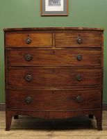 Antique 19th century Mahogany Bow Chest of Drawers, Country House Chest (2 of 18)