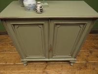 Small Antique Grey Painted Cabinet, Shabby Chic (7 of 8)