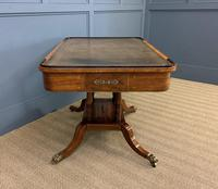 Fine Regency Inlaid Mahogany Library Table (4 of 16)