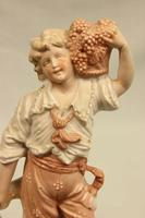 Pair of Bisque Figurines of Young Girl & Boy. (7 of 9)