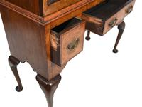 Antique Walnut Cabinet Bookcase Queen Anne Domed (10 of 11)