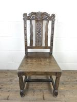 19th Century Antique Gothic Carved Oak Chair (2 of 8)