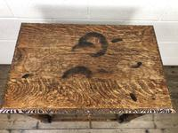 Antique Oak Carved Green Man Side Table (8 of 10)