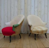 Pair of Antique Napoleon III Armchairs for re-upholstery (9 of 9)