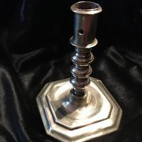 18th Century Brass Candlestick (2 of 3)