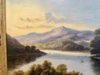 Charming Pair of Framed Oil on Canvas Lakeland Paintings (4 of 6)