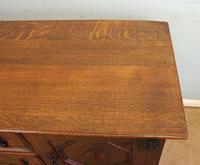 Antique Oak Sideboard Dresser Base (12 of 13)